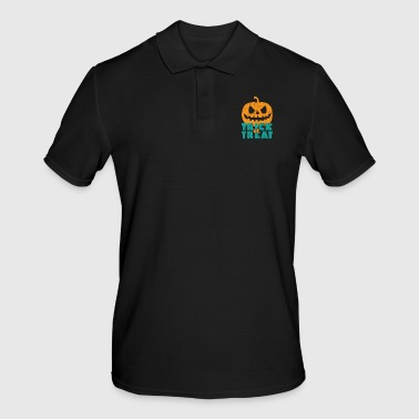Trick or treat gift Halloween saying - Men's Polo Shirt