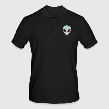 Alien head alien hologram holographic UFO gift - Men's Polo Shirt