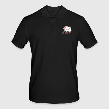 Happy Little Clouds Gift Cute kids girl - Men's Polo Shirt