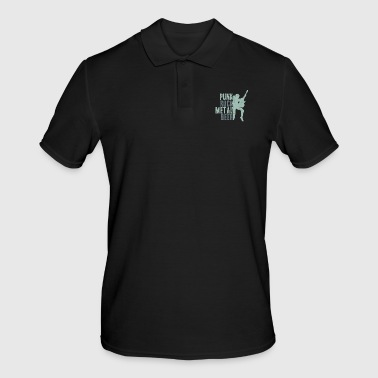Punk Rock Metal Beer funny saying festival - Men's Polo Shirt