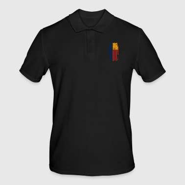 Central Europe Romania Flag USA America - Men's Polo Shirt