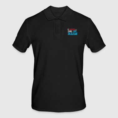 I love rain gift kids birthday - Men's Polo Shirt