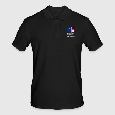 50% Curacaoan 50% American 100% Awesome - Men's Polo Shirt