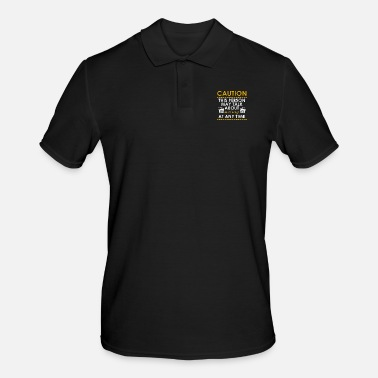 Television Caution This Person may Talk About Acting - Männer Poloshirt