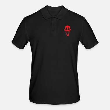 Villain Ghost Ghost Skeleton Costume Red Halloween Gift - Men's Polo Shirt