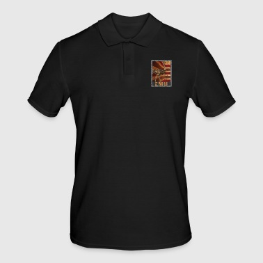 Ostrich Retro Emu poster Distressed Look - Men's Polo Shirt