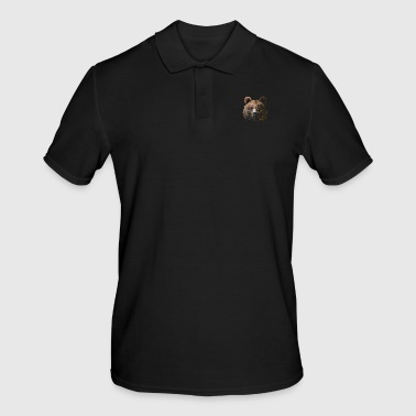 Sayings Geometric bear gift - Men's Polo Shirt