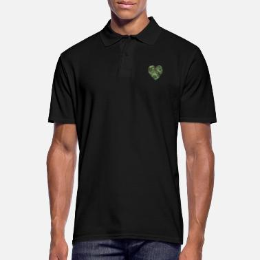 Spirit Love American Soldier Troop Camouflage Heart Gift - Men's Polo Shirt