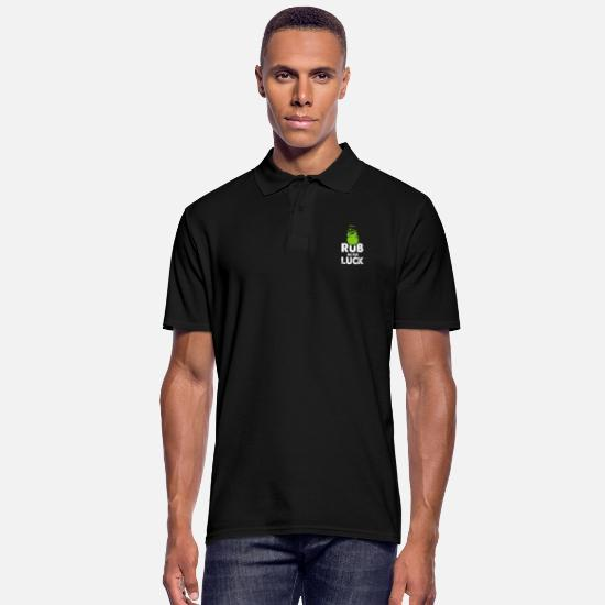 Gift Idea Polo Shirts - Shamrock luck - Men's Polo Shirt black