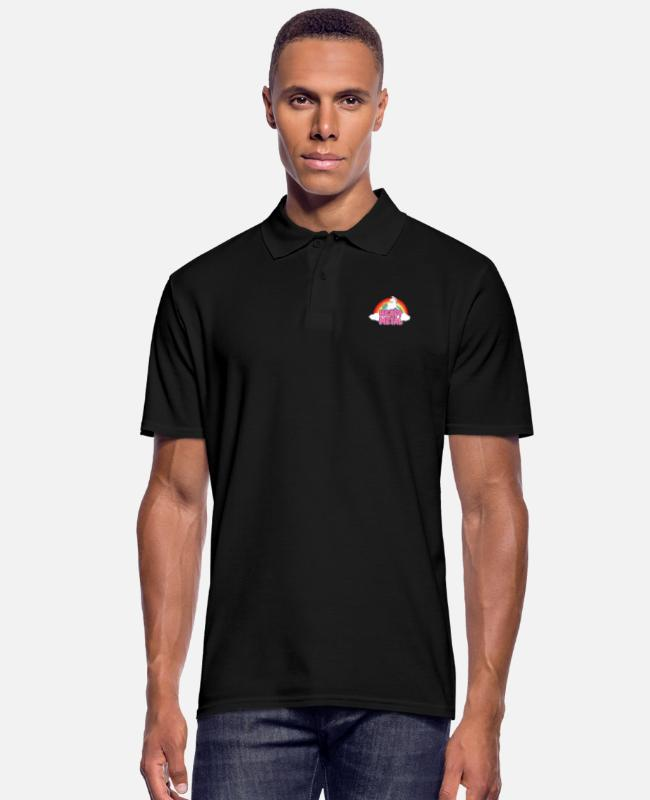 Heavy Metal Camisetas polo - Unicornio de Heavy Metal - Camiseta polo hombre negro