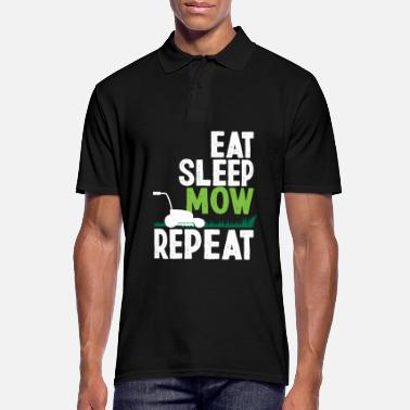 Mow Eat Sleep Mow Repeat Funny Gardener Gift - Men's Polo Shirt