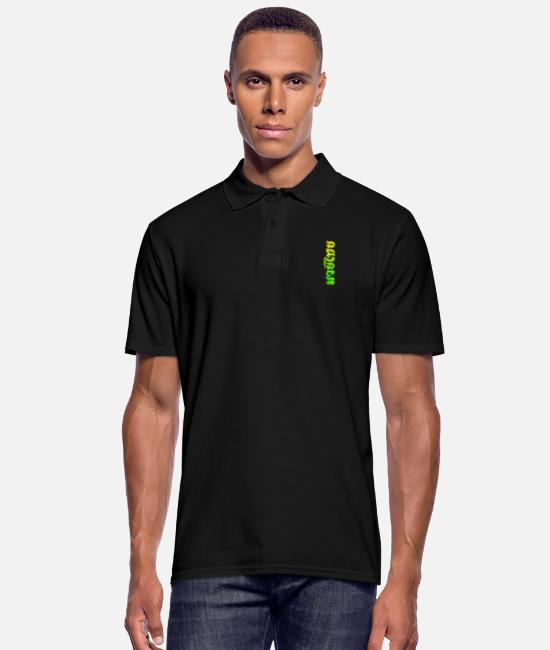 Mma Polo Shirts - Muay Thai Lime Script - Men's Polo Shirt black