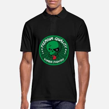 Zombie Fighter | Halloween Badge Scary Zombies - Men's Polo Shirt