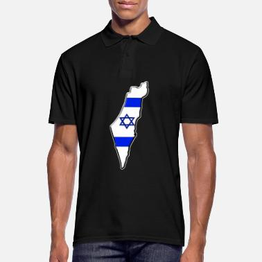 Cards Israel flag map - Men's Polo Shirt