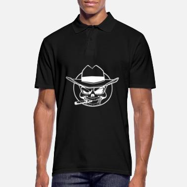 Skull And Crossbones Skull - Cowboy - Men's Polo Shirt