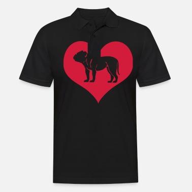 c707556b Fransk Engelsk Bulldog hund hjerte Premium T-skjorte for menn ...