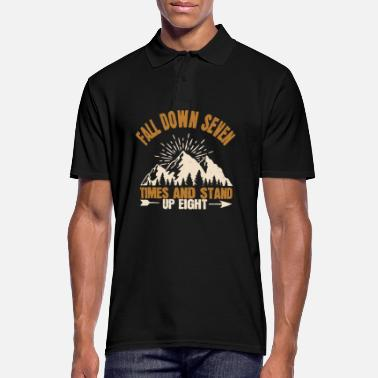 Down Hiking - Fall down and stand up - Men's Polo Shirt