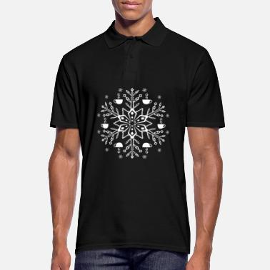 Sweet Coffee cup coffee lover snowflake winter - Men's Polo Shirt