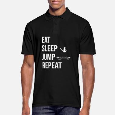 Fitness Eat Sleep Jump Repeat Trampolin Jumping Fitness - Männer Poloshirt