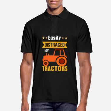 Tractor Easily distracted by tractors - farmer farmer - Men's Polo Shirt