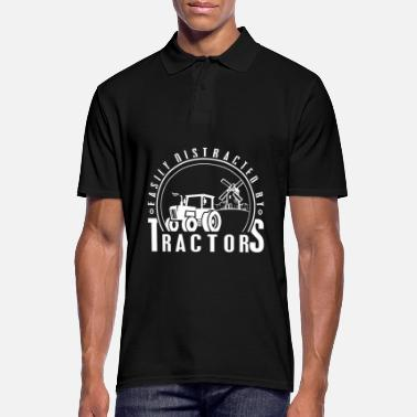 Tractor Farmer farmer - easily distracted by tractors - Men's Polo Shirt