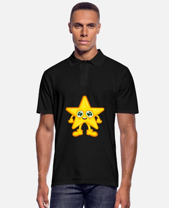 Animal Camisetas polo - Cómic estrella asterisco - Camiseta polo hombre negro