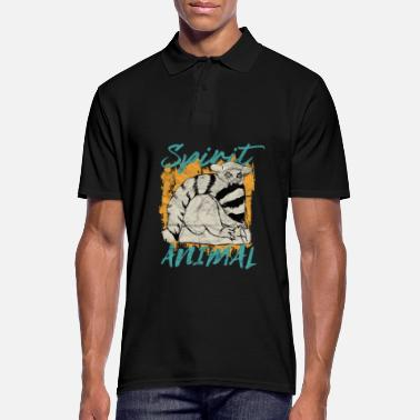 Spirit Endemic Lemur animal of Madagascar - Men's Polo Shirt