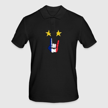 Champion du monde de football Metalhand France - Polo Homme