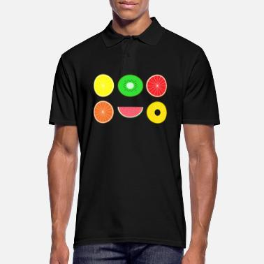 Design DIGITAL FRUITS - Digitale Hipster Früchte - Männer Poloshirt