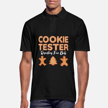 Christmas Cookie Tester Gingerbread Christmas Baking Team - Mannen poloshirt