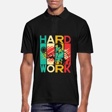 Hard Work Fitness Gym Sport - Camiseta polo hombre