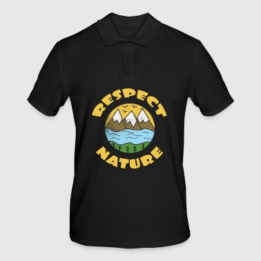 Nature Save the World-plant 10 Tree Forest Weer flora - Mannen poloshirt