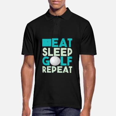 Golf Hauska design Eat Sleep Golf Repeat Tshirt - Miesten pikeepaita