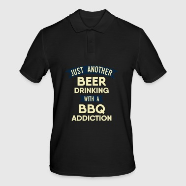 Pitmaster BBQ Barbecue food grill Put my meat in your mouth and swallow design bbq addiction - Men's Polo Shirt