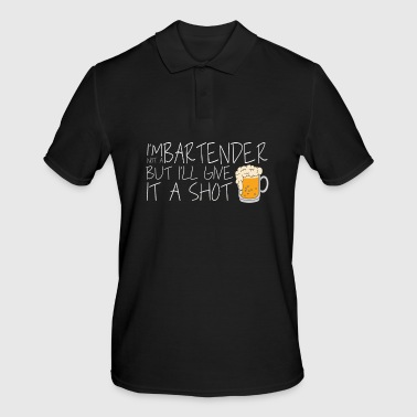 GIVE IT A SHOT Shots Party Alcohol trust me Bartender Beer Waiter Liquor Bistro Glass Tequila - Men's Polo Shirt