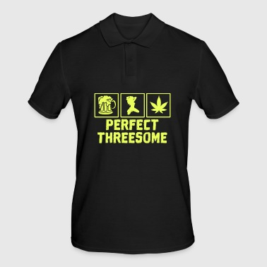 Adult Humor Novelty Graphic Sarcasm Funny T Shirt Perfect threesome - Men's Polo Shirt