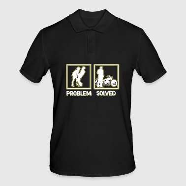 Hilarious Problem Solve Tshirt Design Motor bike - Men's Polo Shirt