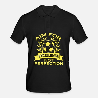 Comedy Empowerment Excellence Tshirt Design Aim for excellence - Men's Polo Shirt