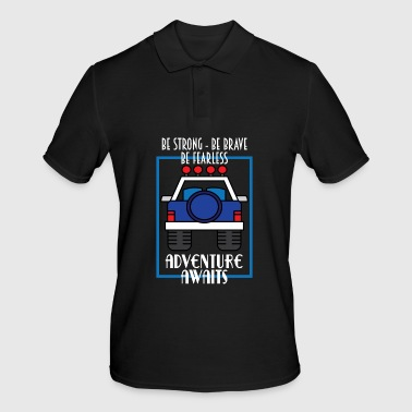 Bicycle Awesome & Trendy Tshirt Designs Adventures Awaits - Men's Polo Shirt