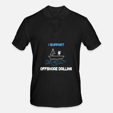 Hammer Funny Drill Tshirt Designs Offshore drilling - Men's Polo Shirt
