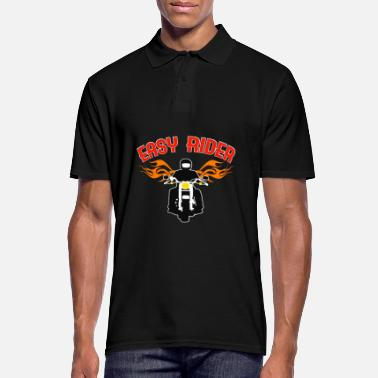 Easy Easy Rider tee design for both cars and - Men's Polo Shirt