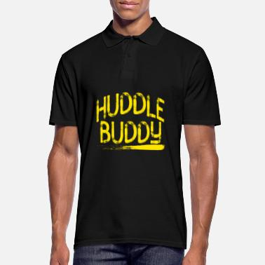 Creative Huddle Buddy tee design for friends and family - Men's Polo Shirt