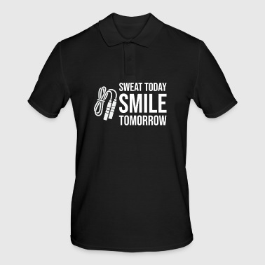 Sweat today Smile Tomorrow - Gym Fitness Workout - Men's Polo Shirt