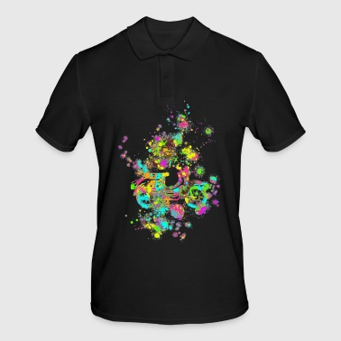 Swallow color splashes - Men's Polo Shirt