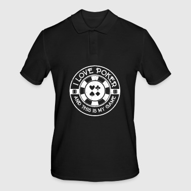 I love playing poker - Men's Polo Shirt