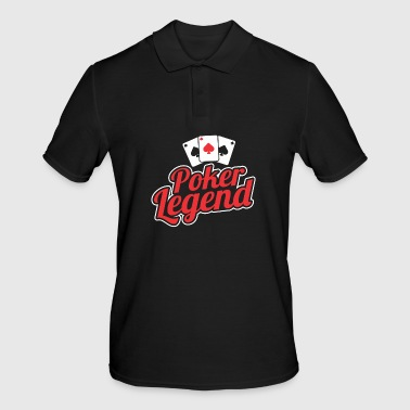 Poker legend playing poker - Men's Polo Shirt