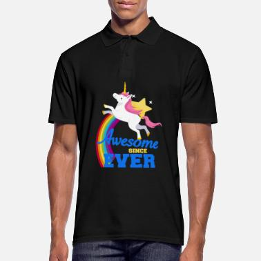 Awesome Since Unicorn - Awesome since ever - Mannen poloshirt