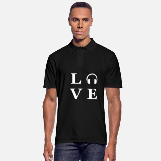 Love Polo Shirts - Music musician school subjects music love gift - Men's Polo Shirt black
