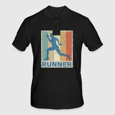 Retro Vintage Style Sprinter Jogging Running Workout - Poloskjorte for menn