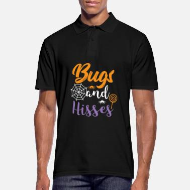 Funny Quotes Halloween Shirt Bugs And Hisses Gift Tee - Men's Polo Shirt